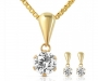 9ct Cubic Zirconia Pendant Earring Set