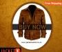 Brown Distressed Leather Jacket