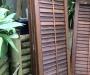 Cedar shutter doors