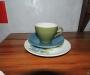 Crown lynn tulip cup saucer plate