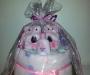 Girls nappy cake