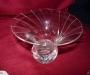 Short modern crystal vase