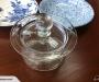 Stuart crystal lidded sugar bowl