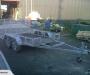 Tamdem transport trailer