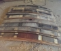 Wine barrels staves